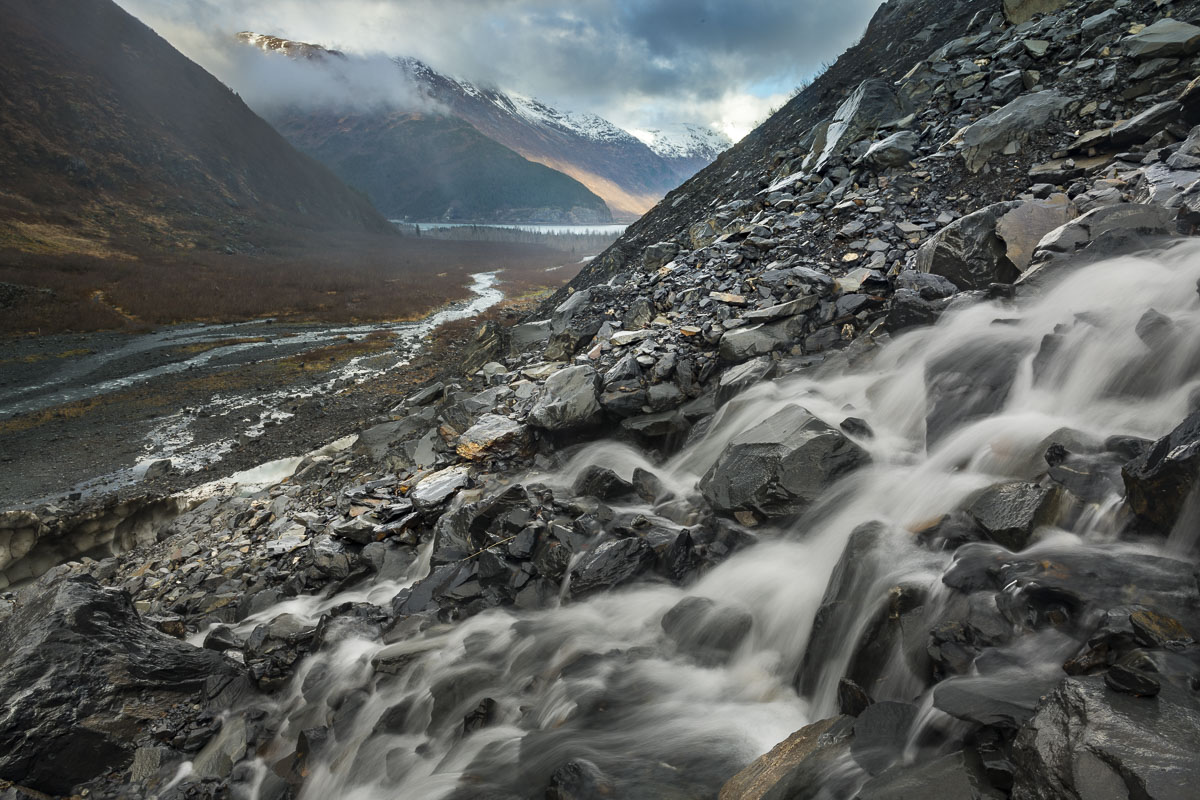 Chugach National Forest, Valley, stream, water, photo