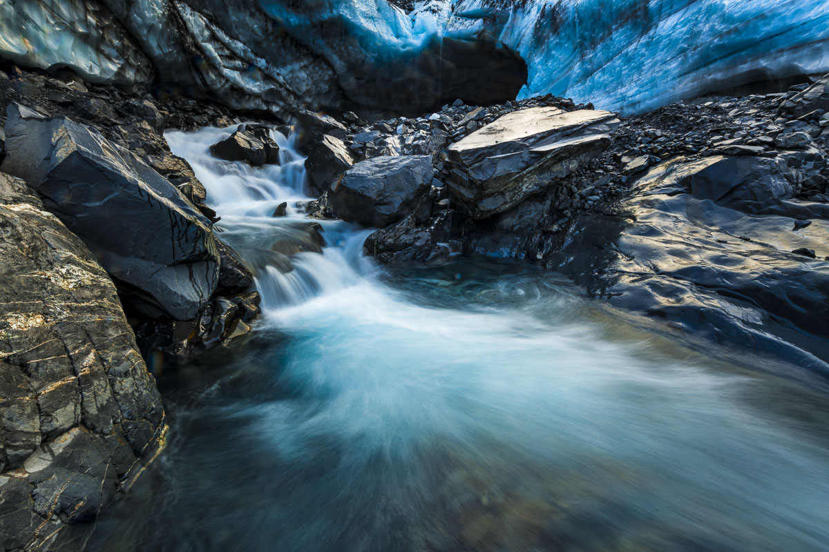 Byron Glacier, Chugach National Forest, Glacier, ice, stream, photo