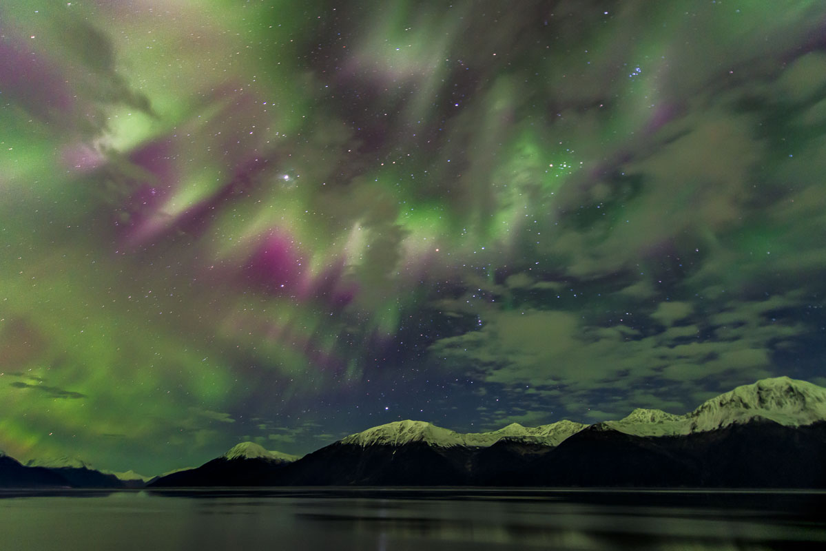 Alaska, Autumn, aurora borealis, landscape, photo