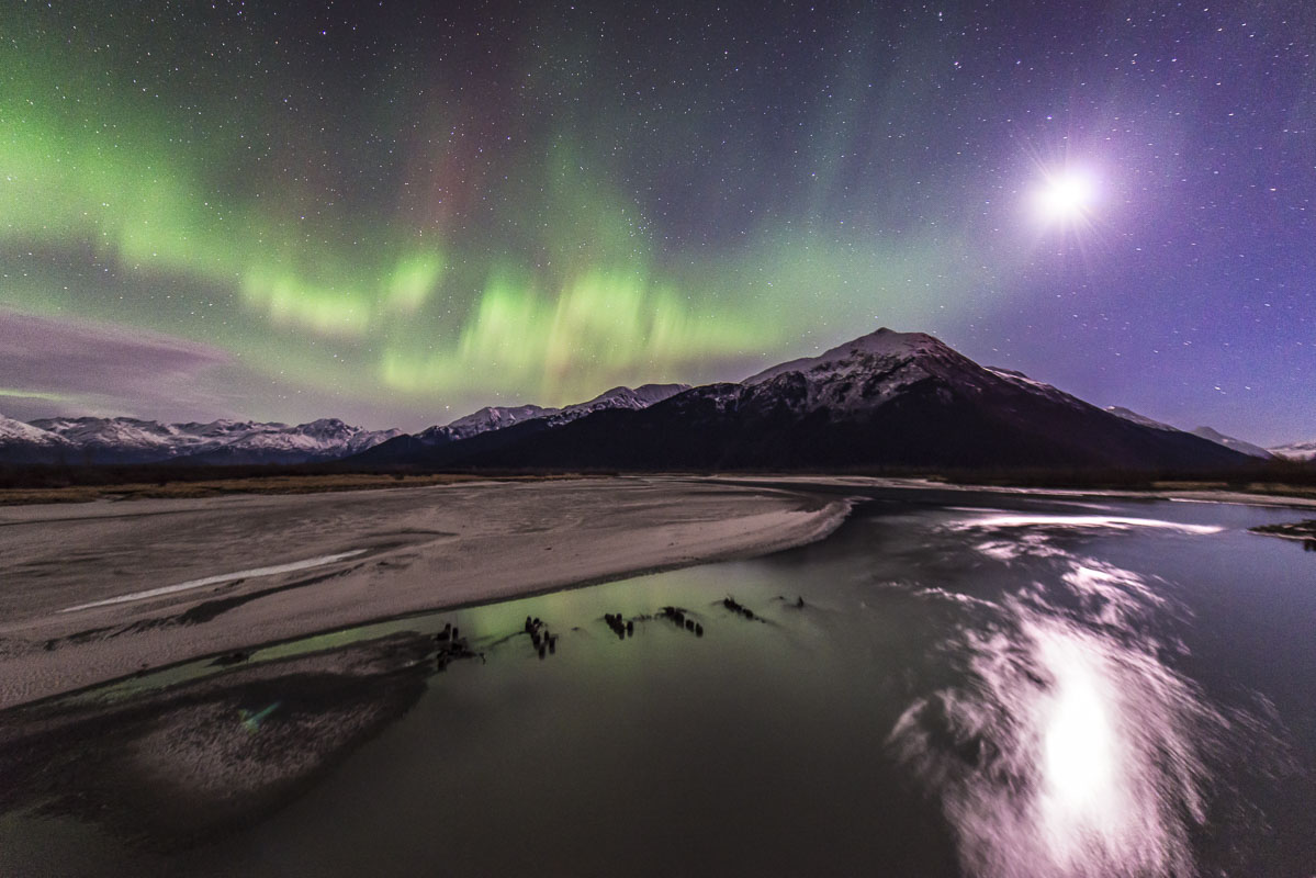 Alaska, aurora borealis, auturmn, northern lights, photo