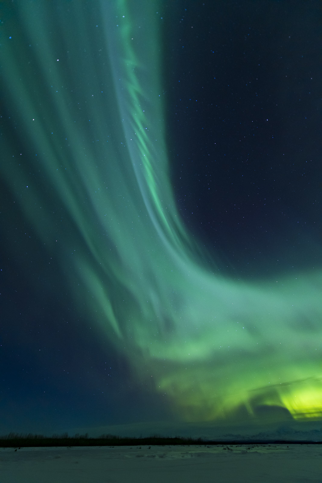 Once in a while, an aurora borealis display gets so tall that you need to fill most of the frame with it. I always want to have...