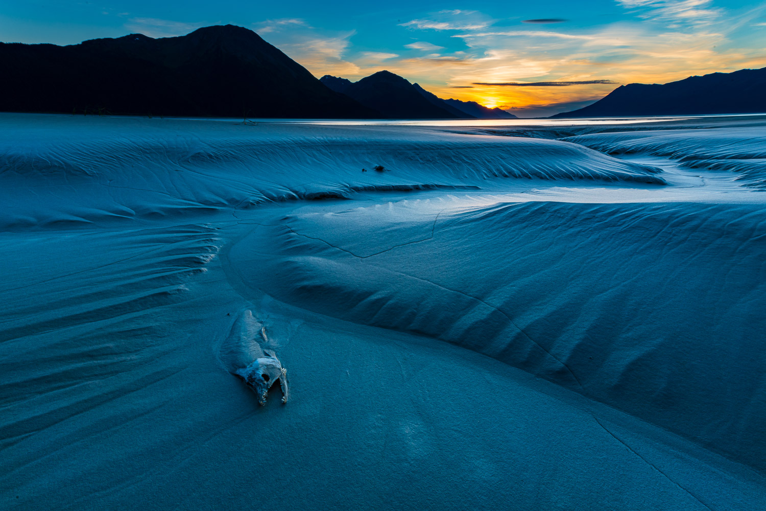 I was out photographing at a favorite location along the Turnagain Arm. As the sun was setting, I paused and looked to my left...