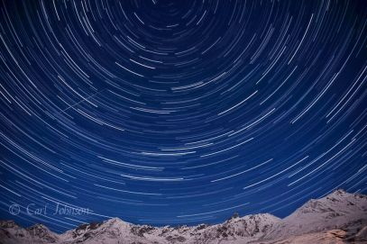 Stacked star trails image, Hatcher Pass, Alaska